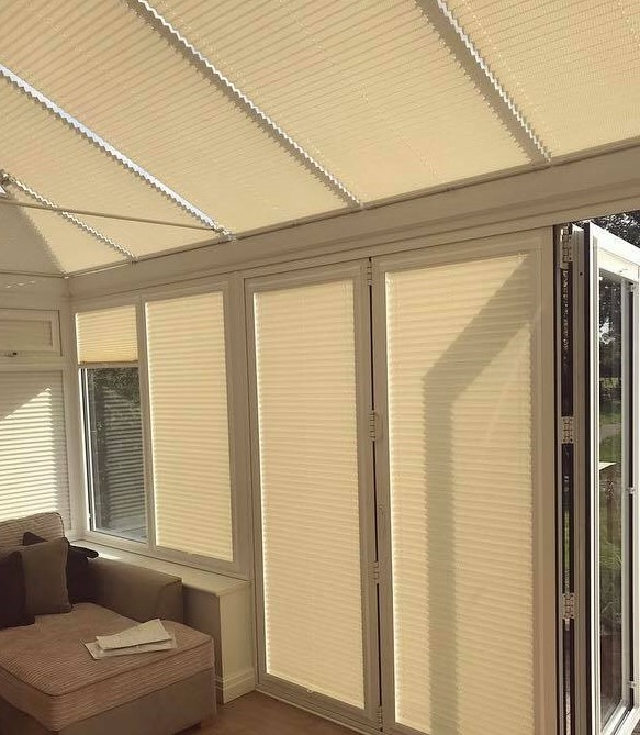 Conservatory Pleated Blinds