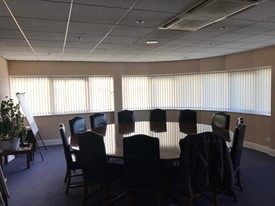 white office blinds